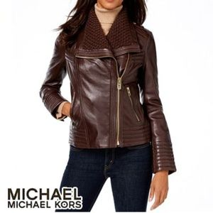 Michael Kors Leather brown jacket